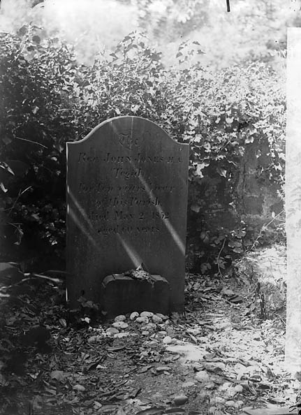 [The grave of Revd John Jones (Tegid, 1792-1852), Nanhyfer]