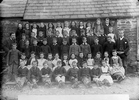 [Pupils, Llanybydder school (1891)]