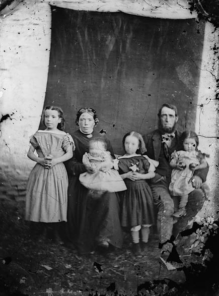 [A woman, man and four children]