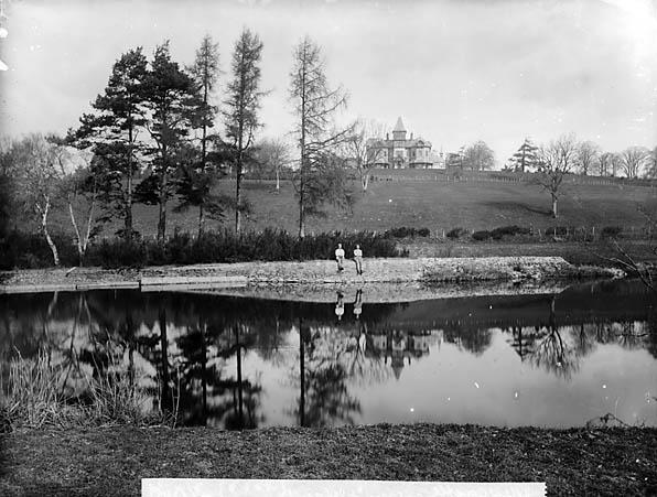 [Cilgwyn Hall and Afon Teifi, Llandyfriog]