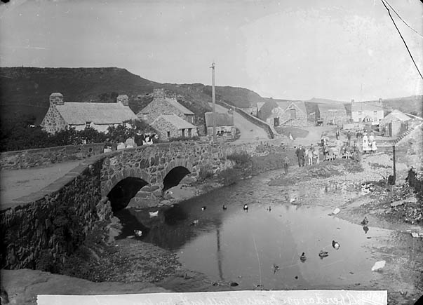 [The bridge and mill, Aberdaron (1896)]