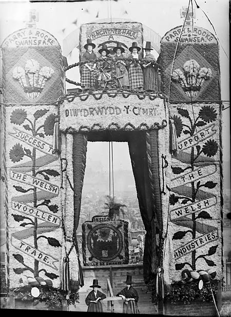 [The entrance to the National Eisteddfod 1884, Liverpool]