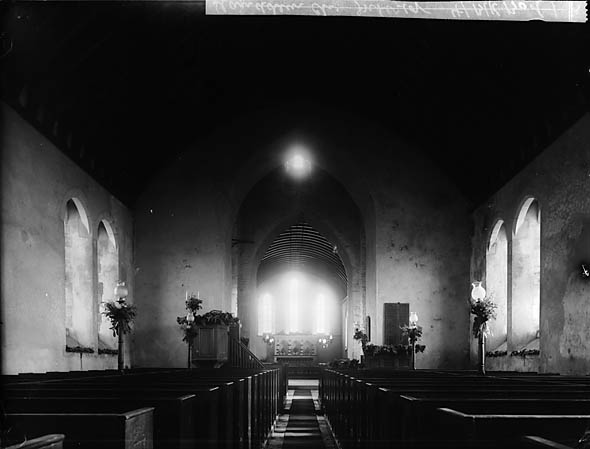 [The interior of Llanddewi Brefi church]