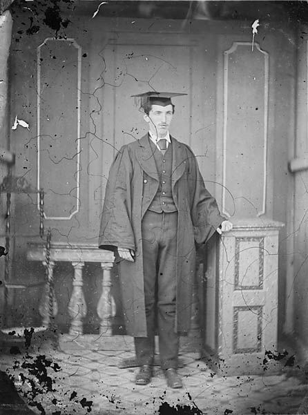 [A youn man in academic dress]