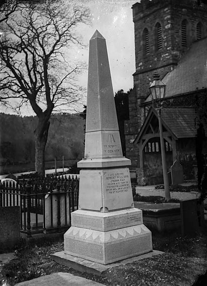 [Memorial to Robert Williams (Trebor Mai, 1830-77), Llanrwst]