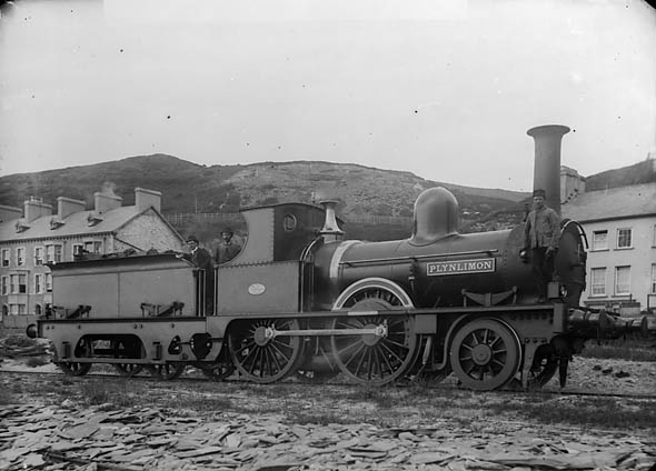 Plynlimon locomtive engine, Cambrian railway (1890)