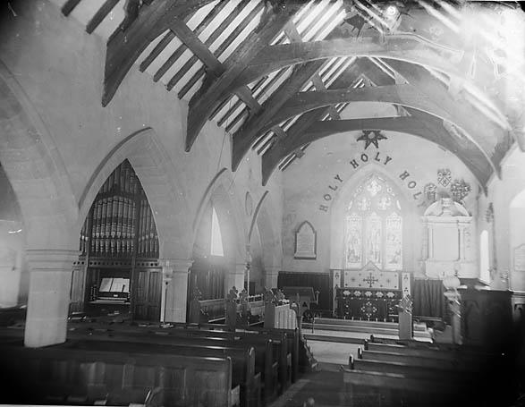 Y [Interior of the church, Llanfair Dyffryn Clwyd (?)]