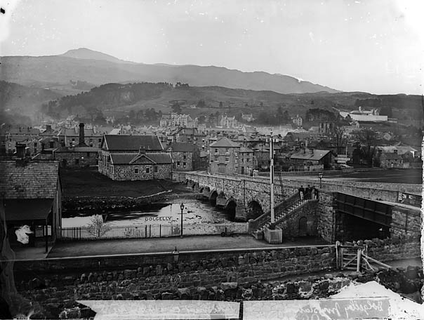 [A view of Dolgellau from the railway station (c 1875-6)]