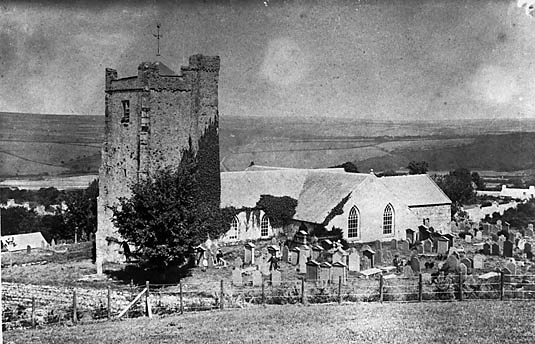 [A copy of a photograph of Newport (Penf) church in 1860]