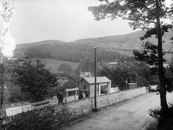 [Esgairgeiliog railway station on the Corris Railway]