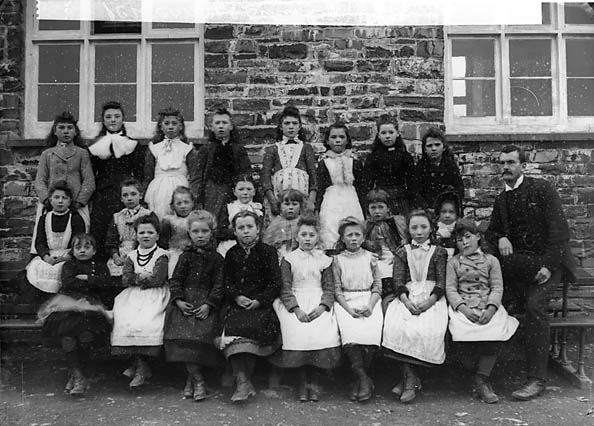 [School pupils, Pencarreg (1891)]