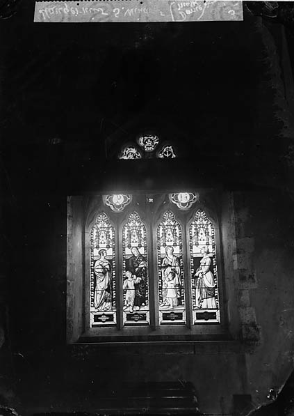 [Window, Llangernyw church]