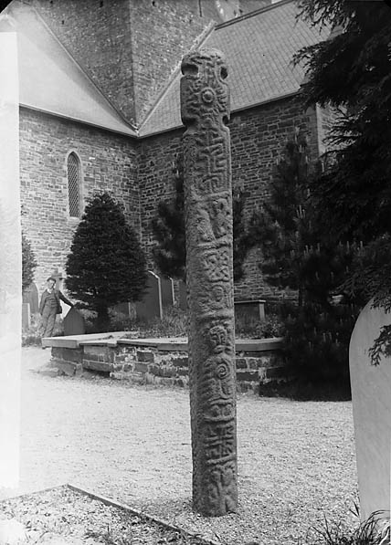 [An old cross in Llanbadarn Fawr (Cer) churchyard]