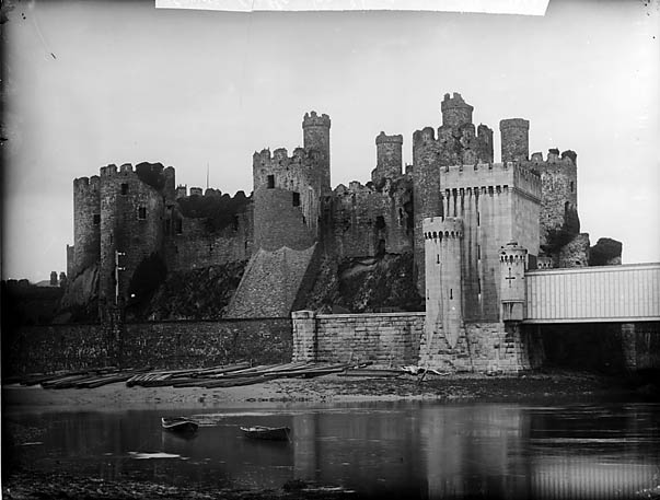 [A view of Conwy castle from the shore]