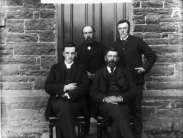 [Calvinistic Methodist chapel officials, Llansannan]