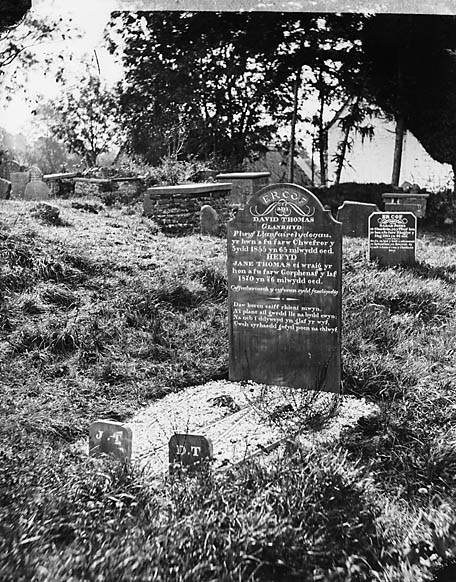 [Grave of David and Jane Thomas, Glanrhyd, Llanfair Clydogau]