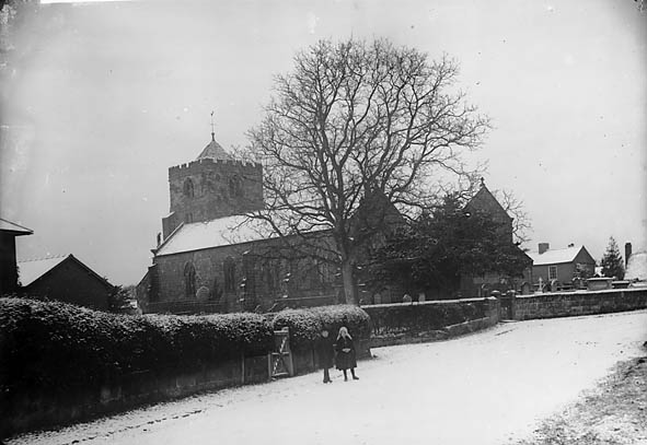 [The church in the snow, Baschurch (Salop)]
