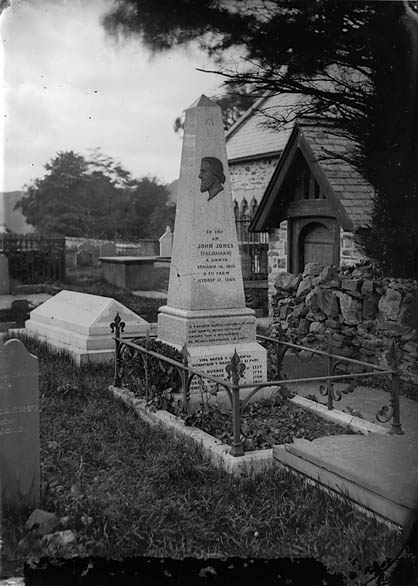 [Monument to John Jones (Talhaiarn, 1810-1869), Llanfair Talhaearn]