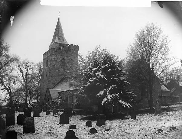[The church, Llangurig, in the snow (May 18, 1891)]