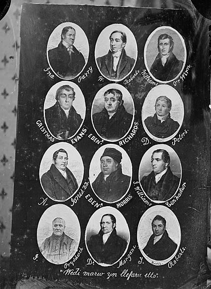 Wedi marw yn llefaru eto (multi-portrait, 9) (1867)