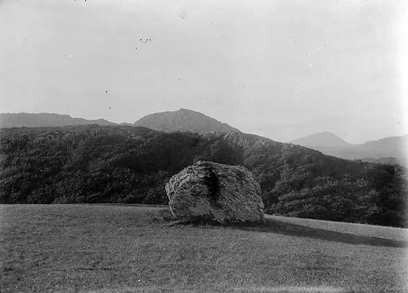 [A large stone, Llanymddyfri (?)]