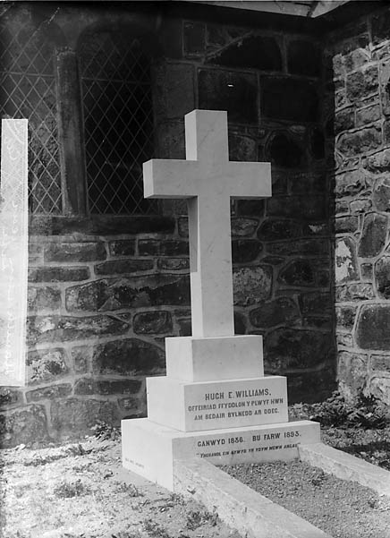 [Memorial of Revd Hugh E Williams (1836-93), Llanaelhaearn]