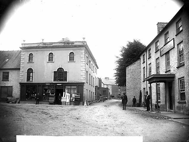 [Post Office and the Castle Hotel, Llangadog]