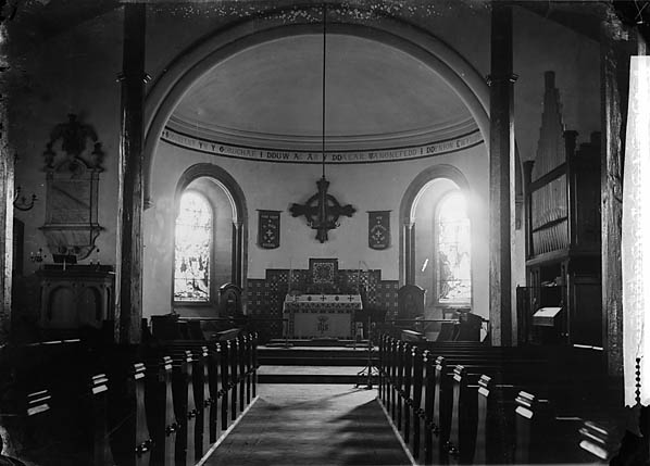 [Holy table and chancel of Dolgellau church]
