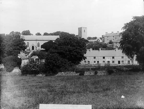 [A view of the church, Henllan (Dinb) from Cae Llindir]