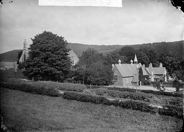 [The church and school, Llangernyw]