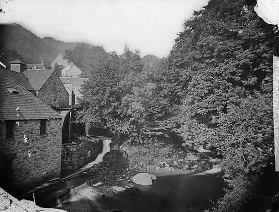 [The mill and waterfall, Trefriw]
