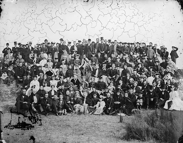 [Fitzclarence St (CM) Sunday school trip at New Ferry (1868)]