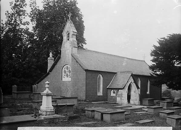 [The church, Nantglyn showing the grave of John Davies]