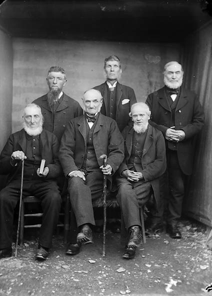 [Men's sunday school class, Tregaron]