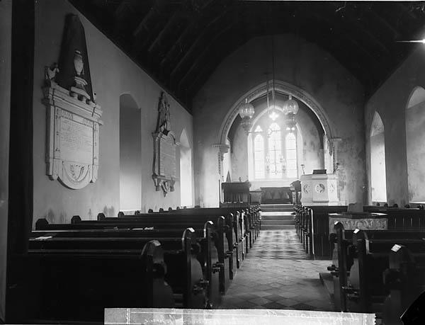 Y [Interior of the church, Llanddowror]