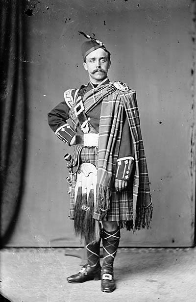 [A man wearing tartan (Russell)]