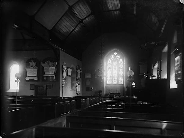[The interior of the church, Llansantffraid-ym-Mechain (?)]