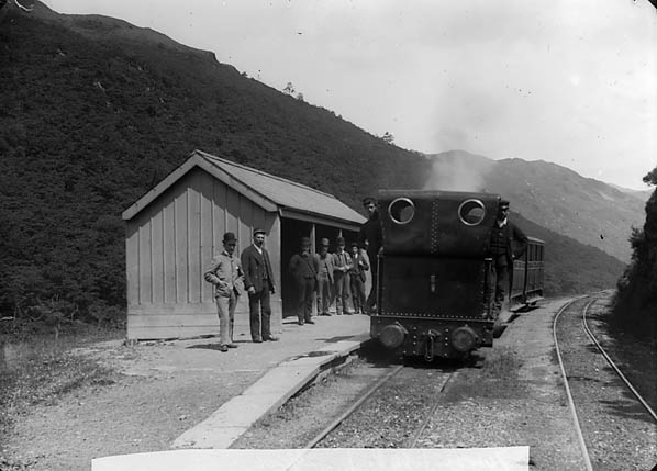 [A train in Tywyn station on the Talyllyn railway]