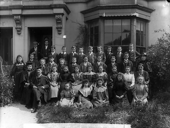[Pupils and teachers of Abergele County School]