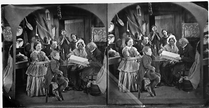[Family devotions (stereograph)]
