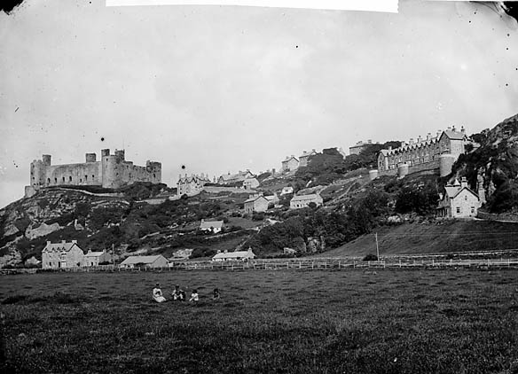 [The castle and terrace, Harlech]