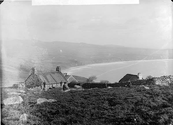 [A view of Porth Neigwl from Y Rhiw]