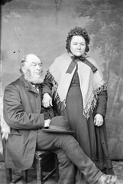 [Elias Hughes and his wife, Llangefni]