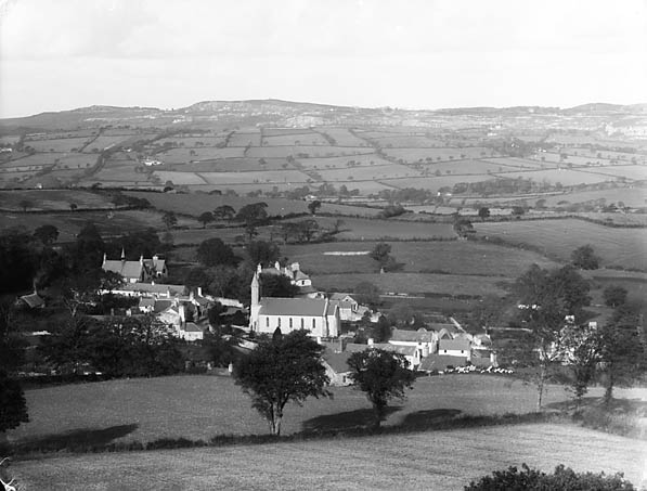 [A view of Betws-yn-Rhos from the hill]