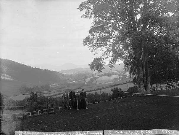 [A view of the vale of Bontuchel from Fachlwyd tennis court]