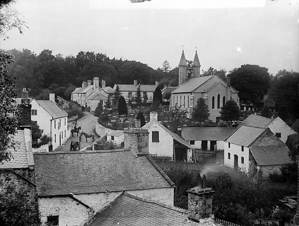 [A view of Betws-yn-Rhos from Cae'r Person]