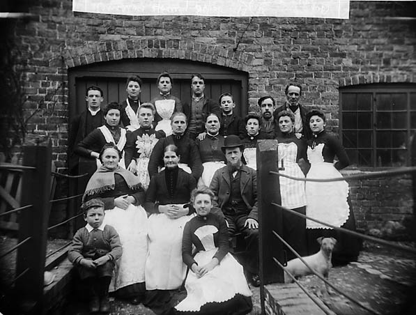 [Workers of the Hosiery Depot, Llanidloes]