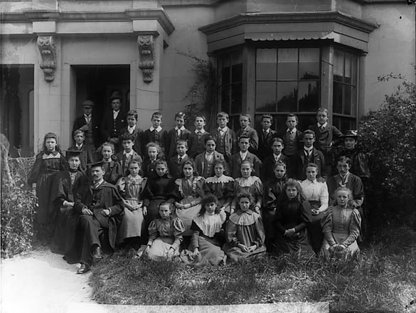 [Pupils and teachers of Abergele County School (1897)]