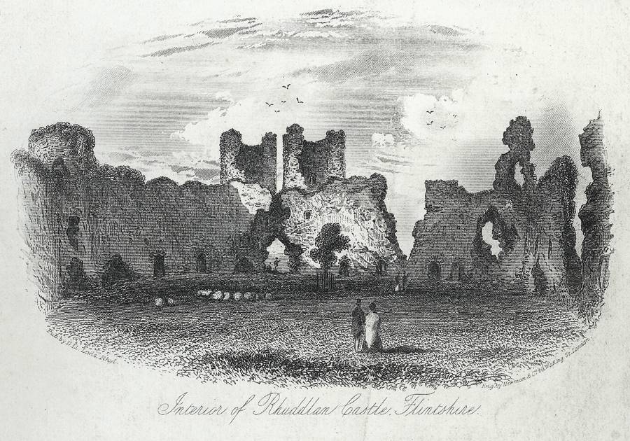 Interior of Rhuddlan Castle, Flintshire