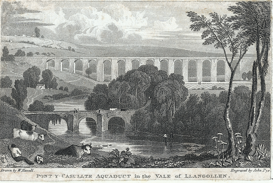 Pont-y-Casullte aquaduct in the vale of Llangollen